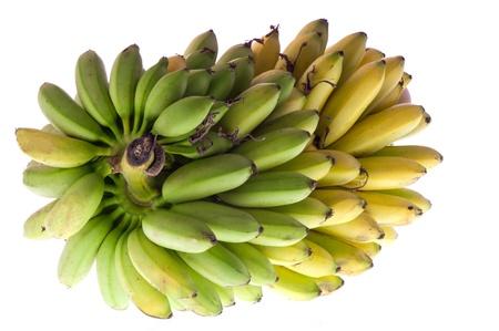 a bunch of bananas on white background Standard-Bild