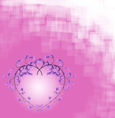 Background with flowers hearts for Valentine's Day and wedding Stock Photo - 11908360