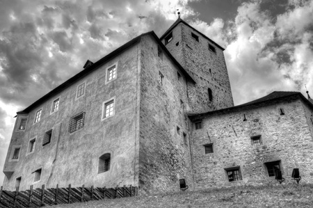 The church of St. Martin in the South Tyrol in Italy photo