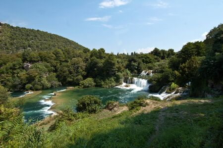 the waterfalls of Krka National Parks of Dalmatia photo