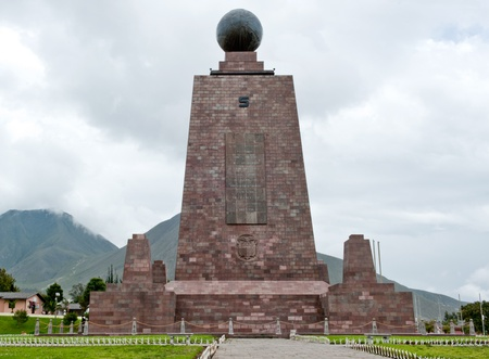 mondo: The midpoint of the globe in Quito, Equador Stock Photo