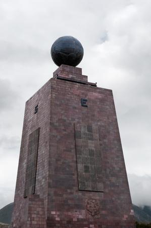 mondo: The midpoint of the globe in Quito, Equador Stock Photo