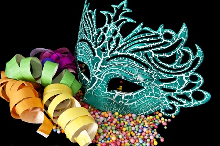 Carnival masks on black velvet background Stock Photo - 12511716