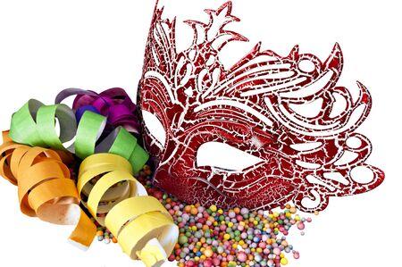 Carnival masks on black velvet background Stock Photo - 12511794