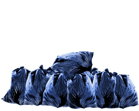 some trash bags on a white background Standard-Bild