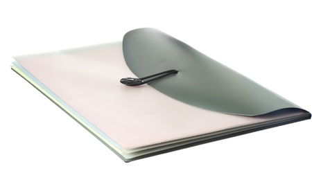classifier: plastic classifier with  colored sheets of white background