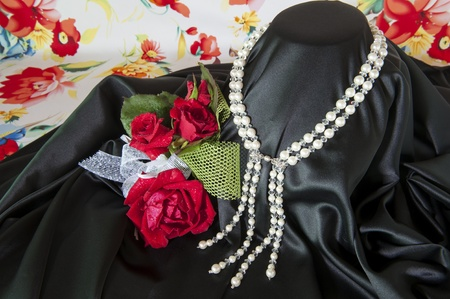 Flowers and jewelry for a Valentine photo