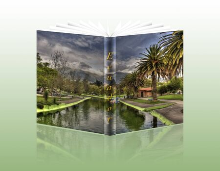 book with a cover photograph of the public gardens of quito photo