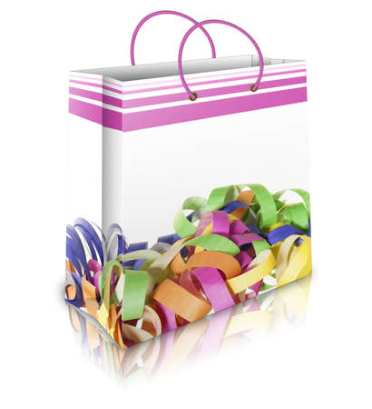 a carnival bag on a white backround photo
