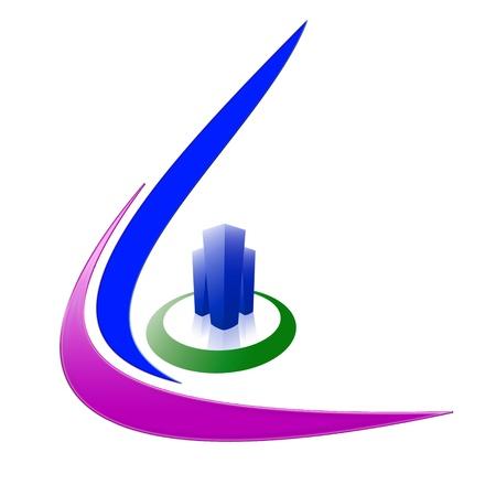 회사: 흰색 배경에 회사 로고 디자인