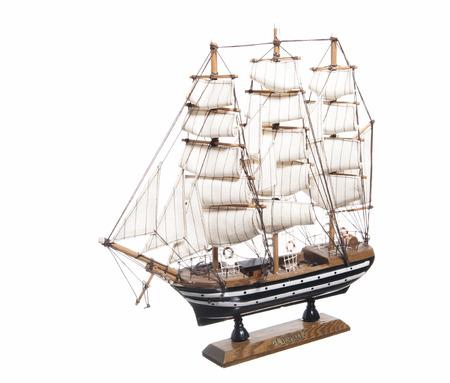 model of the sailing ship Amerigo Vespucci on white background  photo