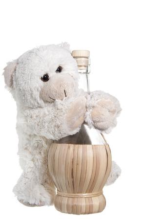 small plush animals on  a white background photo
