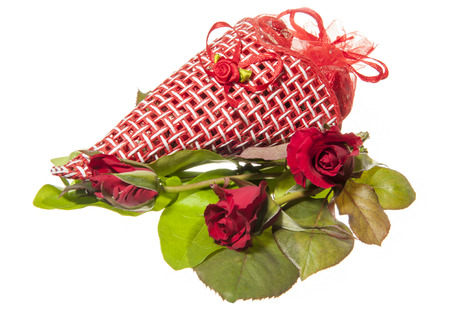 package cioccolatine and roses for  a valentine day photo