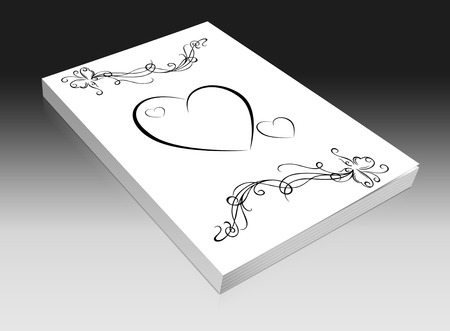 a wedding book on a white background photo