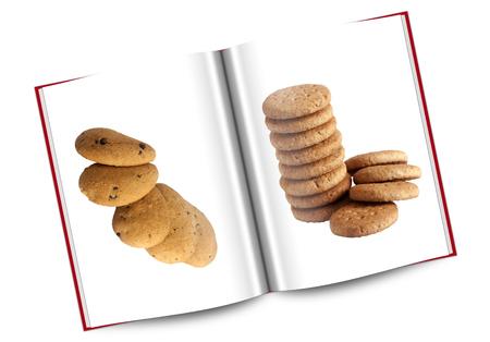 galletas integrales: libro de galletas con gotas de chocolate y harina integral