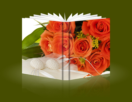 book of flowers and gift for a Valentines Day