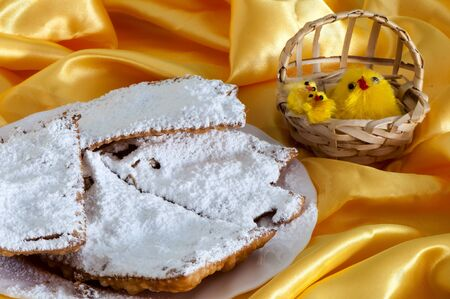chiacchiere: Italian fried sweets for Carnival and Easter
