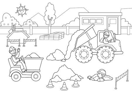 Dibujo Para Colorear Para Los Niños Pequeños Acerca De La Industria ...