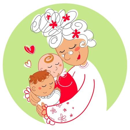 cautious: Abuelas con beb� gemelos