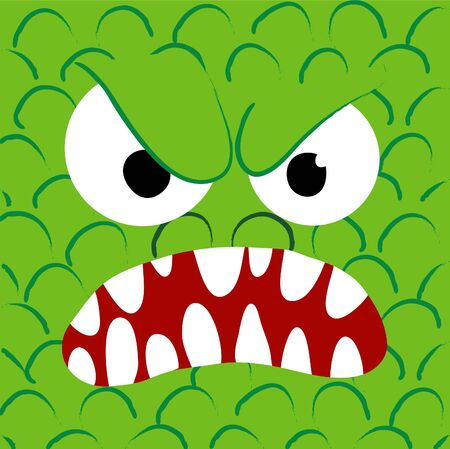 annoy: A angry monster Illustration