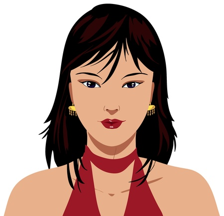 A pretty portrait of an oriental girl Stock Photo - 11549537