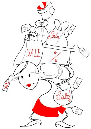 Sales: Do you need something else? Funny clip art about shopping. Stock Photo - 11549550