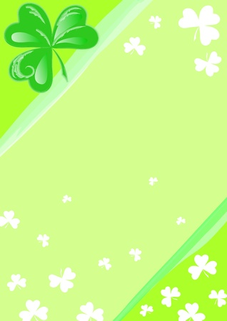 St Patrick day: page with Three Leaf Clover. photo