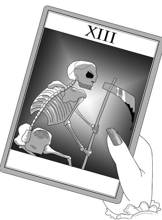 Black and white tat or death card. Stock Photo - 11556770