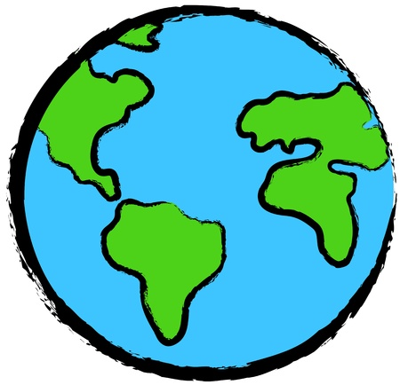 Planet earth icon