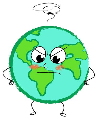 disappoint: Angry planet earth Stock Photo