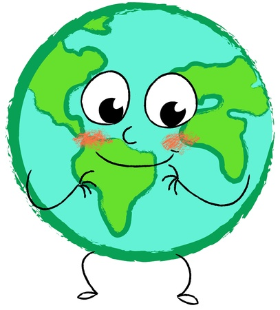 Happy smiling planet earth photo