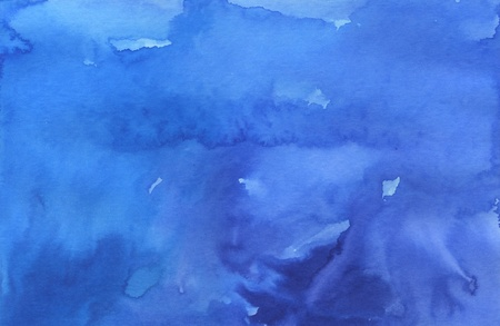 Blue graduated background made with watercolors and inks  스톡 콘텐츠