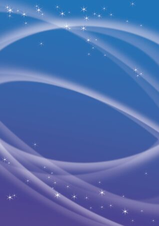 ray of light: Abstract blue and violet background with waves and white bright stars  Stock Photo