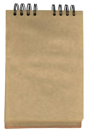 Empty notepad with brown pages photo