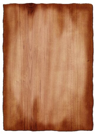 Board of cherry wood with visible real texture photo