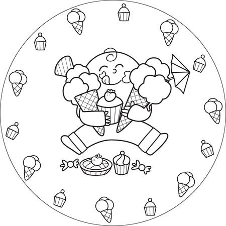 Dibujos de niños comiendo comida chatarra para colorear - Imagui