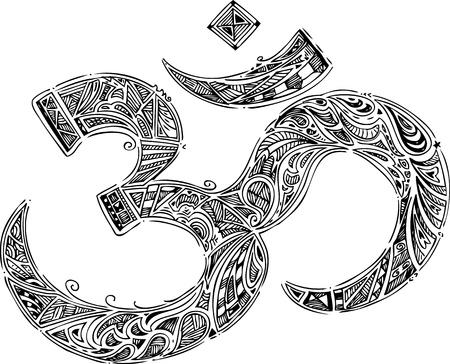 Black Om symbol 1