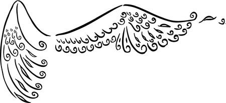 open the wings: Stylized angel wings