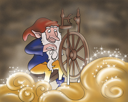 Rumpelstiltskin had spun with a magic spindle making gold.