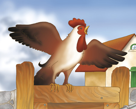 grimm: Singing rooster from Bremen town musicians folktale