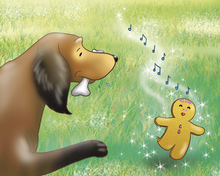 fables: Singing Gingerbread boy and dog