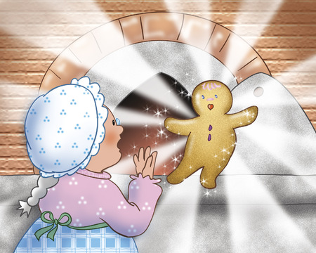 burning man: Magic gingerbread boy is baked