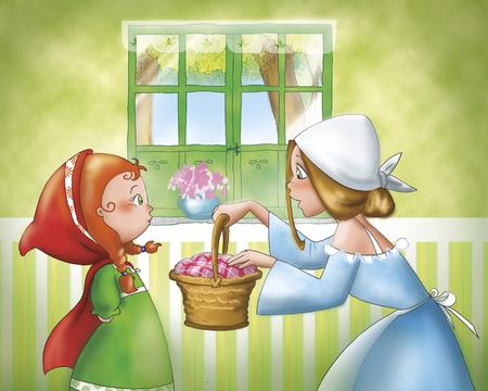 caperucita roja: Caperucita Roja y su mamá