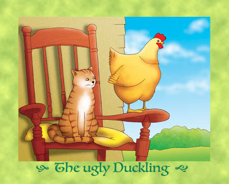 the ugly: The ugly duckling : the cat and the hen are not friends of the dukling