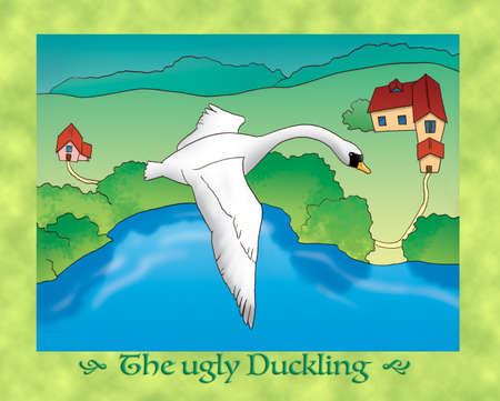 the ugly: The ugly duckling flying away
