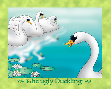 the ugly: The ugly duckling : wondering looking at swans