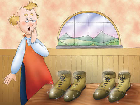 elves: The elves and the shoemaker: the magic shoes made by elves