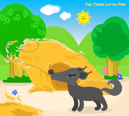 I tre porcellini 4: il lupo cattivo soffia via la casa di paglia