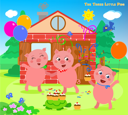 Die drei kleinen Schweinchen folktale Happy End