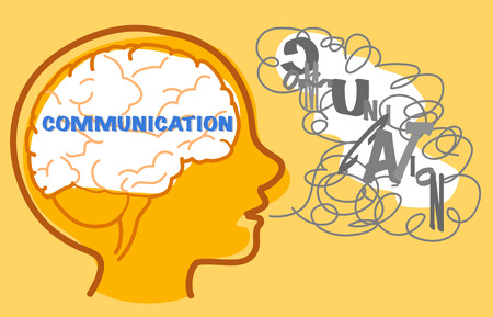 difficult to find: Children with autism wants to communicate but they find it difficult. illustration.